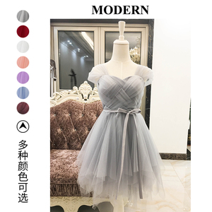 Image 3 - Bridesmaid Dresses Purple Cheap Girl Short Bridesmaid Dress White Pink Grape For Wedding Guests Sister Plus Size Party Dress