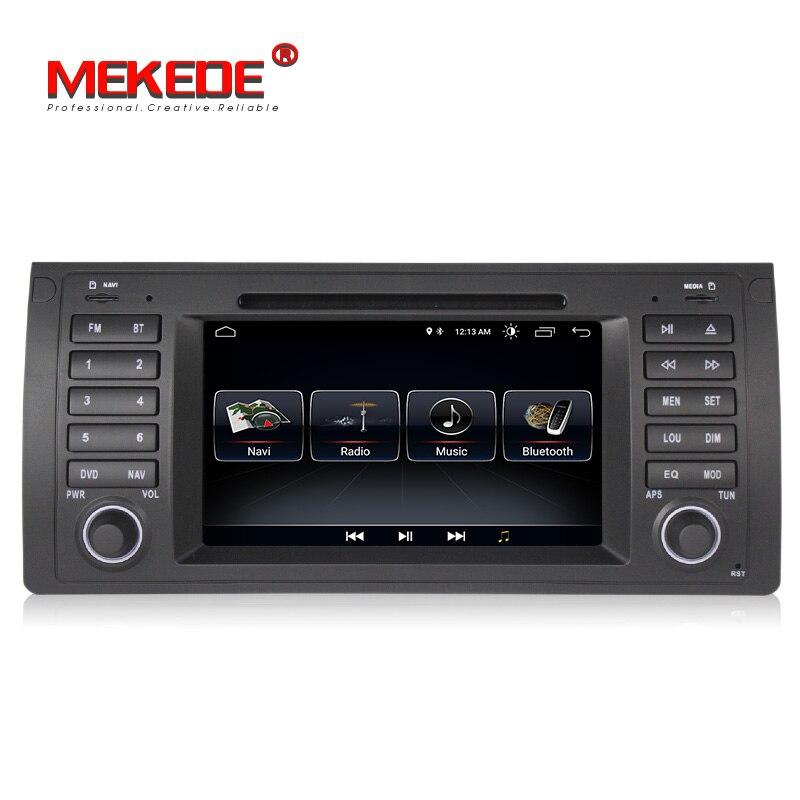 Livraison gratuite! 7 Android 8.0 voiture GPS dvd pour BMW E39 X5 E53 voiture multimédia stéréo lecteur autoradio avec WIFI BT y compris CANBUS