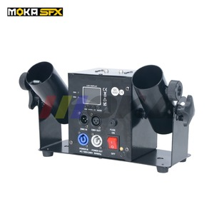 Image 3 - Duplo tiro streamter lançador dmx confetti máquina spray colorido papel atirador casamento