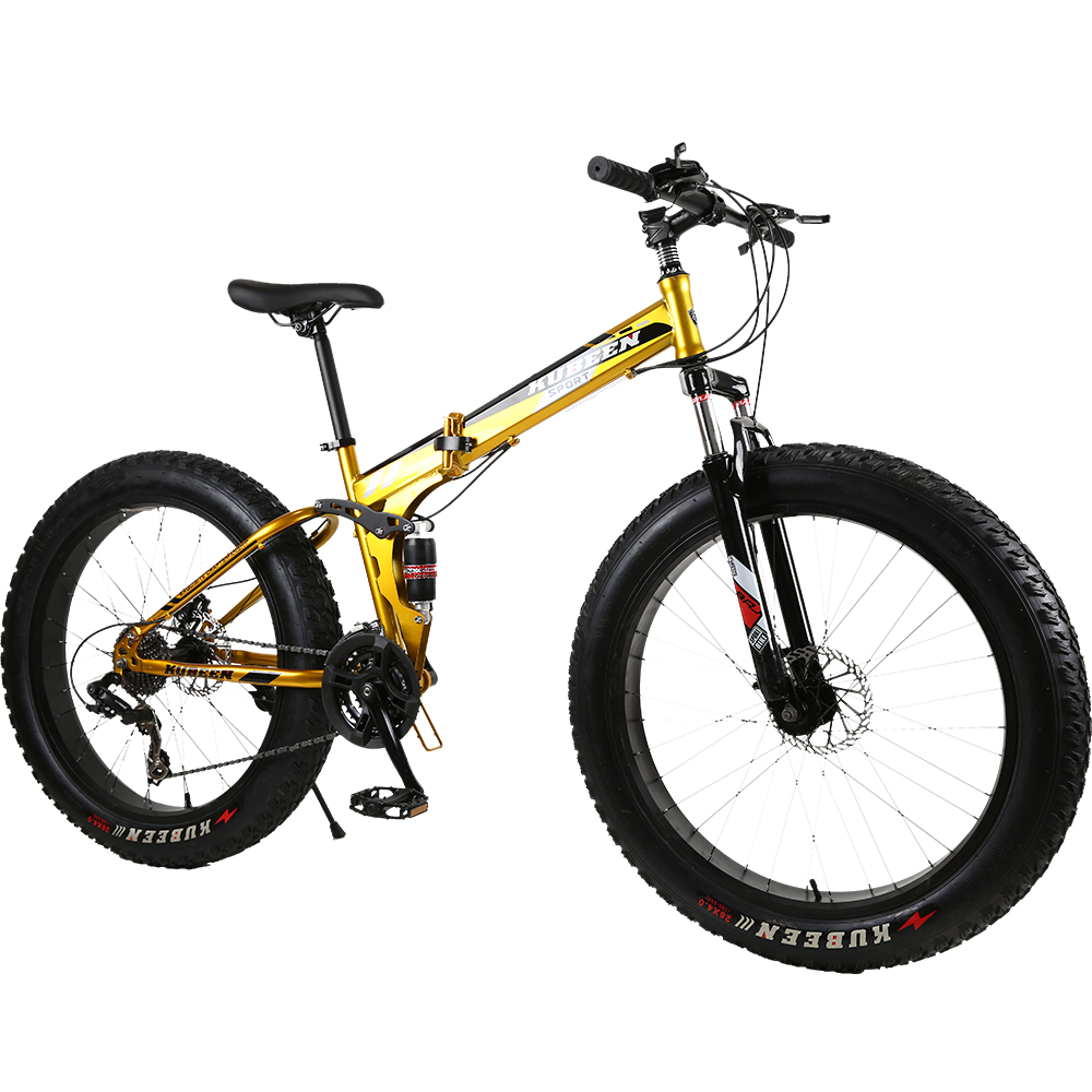 KUBEEN Mountain Bike Super WideTire Bike Snowmobile ATV 26 * 4.0 Bicycle 7/21/24/27 Speed Shock Absorbers Bike