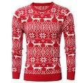 Otoño invierno cálido de los hombres de moda suéter ciervos fresca ocio guapo suéter prendas de punto para hombre