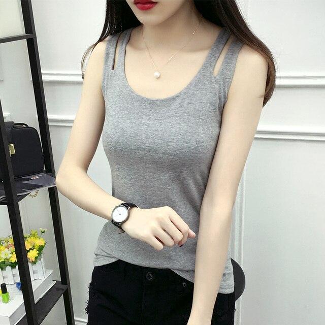 b53f400249 Harajuku mulheres tops camisa sem mangas top curto plus size 2XL 3XL  camiseta treino tanques blusas femininas de algodão tanque sexy colete