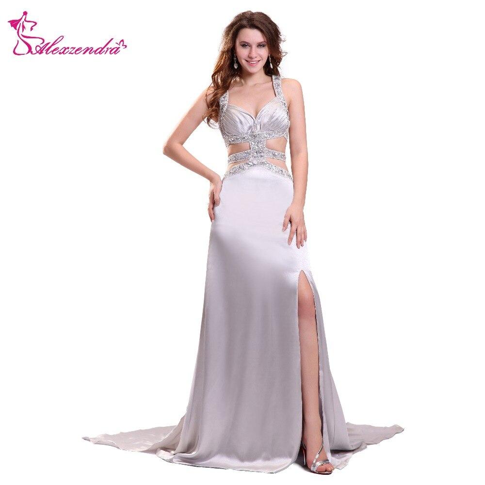 Alexzendra chérie dos croisé conception Unique Sexy robes de bal robe de soirée formelle Simple robes de soirée spéciales
