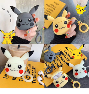 Image 1 - Applicable to Airpods1 cartoon silicone case AirPods2 skin protection cover Bluetooth wireless earphone box cute