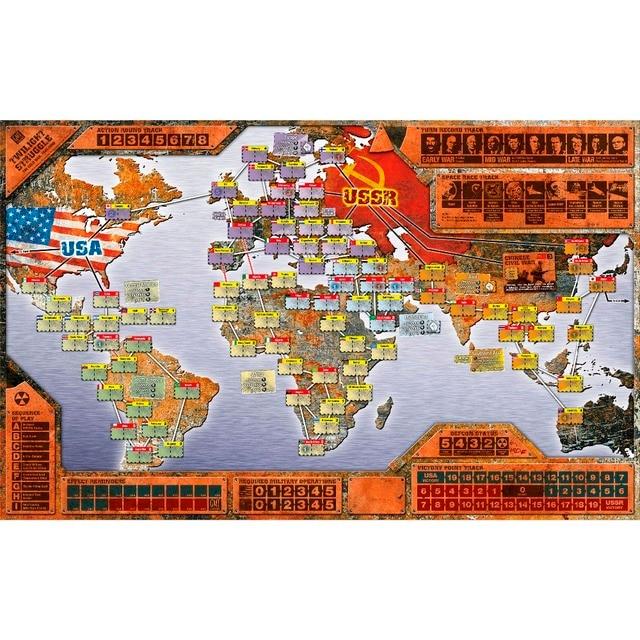 50X80CM Big Size Twilight Struggle Playmat Fantasy Twilight Struggle World  Map Playmat, Table Playmat,