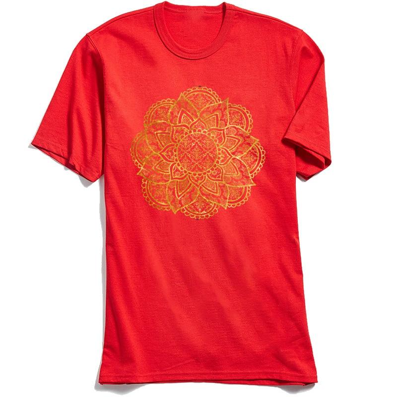 Geometric Mandala Red Crew Neck