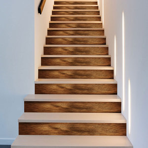 Image 5 - 3D Best Match Wood Pattern Wall Tile Stairs Stickers Removable Pvc Wall Sticker Waterproof Mural Poster for Room Stairway