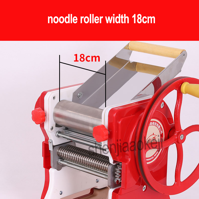 Image 5 - Household manual pasta machine / stainless steel pasta machine pasta machine commercial 18cm noodle roll width-in Electric Noodle Makers from Home Appliances