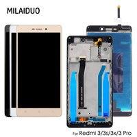 IPS LCD Display Für Xiaomi Redmi 3 3X Touchscreen Digitizer LCD Für Redmi 3s Montage Ersatz Schwarz Weiß gold mit Rahmen-in Handy-LCDs aus Handys & Telekommunikation bei