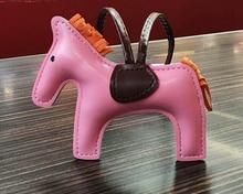 50 Stuks Pu Leer Paard Sleutelhanger Animal Sleutelhanger Vrouwen Tas Rugzak Handtas Kwastje Sleutelhanger Charm Hanger Accessoires