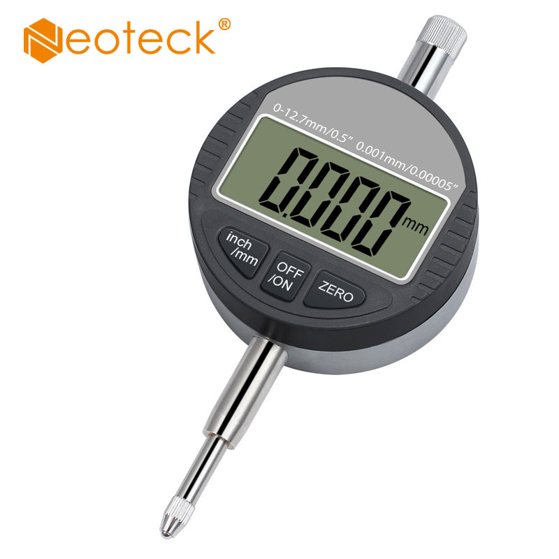 Neoteck Digital Dial Indicator 0.01/.0005'' 0-12.7mm/1'' Rang Gauge Digital Probe Indicator Electronic Dial Test Indicators LCD цены