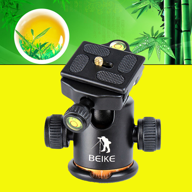 BEIKE BK-03 03 Camera Tripod Ball Head with Quick Release Plate 1/4 Screw For Weifeng Zomei QZSD Q666 Q999 Professional Tripod