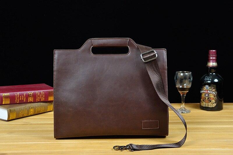 HTB1EQq8XOYrK1Rjy0Fdq6ACvVXaQ 2019 Vintage Men's Briefcase Business Office Bags Crazy horse Leather Handbag NEW computer laptop Bag Casual Crossbody bags