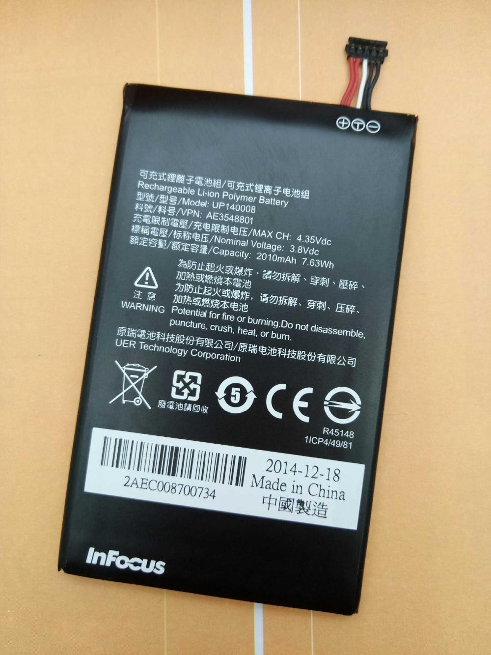 100% original para Foxconn InFocus M2 bateria 2000 mAh UP140008 novo disponível infocus m2 bateria