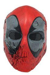 Nueva máscara facial completa protección de malla de alambre Airsoft Paintball calavera máscara Prop danza máscara