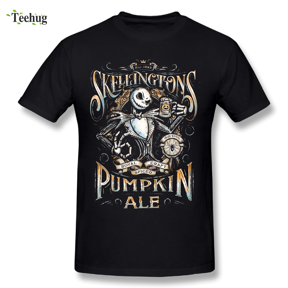 3D Print Men's Jack Skellington Pumpkin The Nightmare Before Christmas T Shirts Stylish Graphic Homme Tees Shirt