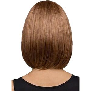 Image 2 - Peruca de cabelo curto reta bob peruca de cabelo completo resistente ao calor freeshipping