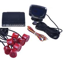 Auto 4-parken-sensor-rückunterstützungsradar LCD Display 12 V 8 Sensoren 22mm stimme Auto Detektor System Kit für alle Autos