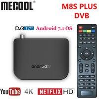 Mecool M8S PLUS DVB TV Box Android 7.1 DVB T2 Terrestrial Combo Smart TV BOX 4K Amlogic S905D Quad Core 64 bit 1GB 8GB 1080p