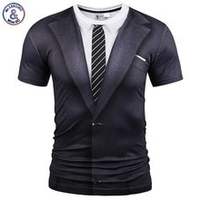 Mr 1991INC Fake Two Pieces Style T shirt Men Women Tees Summer Tops Print Suit Tops