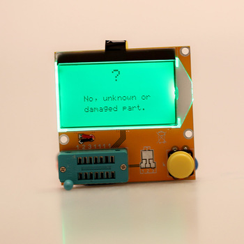 LCD Display Multi-functional Transistor Tester LCD Backlight Diode Triode Capacitance ESR Meter with Backlight