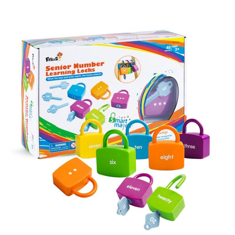 Montessori enseignement sensoriel jeunes enfants appariement graphique cognition Montessori éducation précoce clé numérique débloquer puzzle jouets
