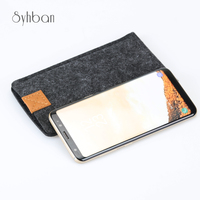 Wool Felt Wallet Mobile Phone Bag For Samsung Galaxy Note5 Para Galaxy Nota4 Note3 Bags For
