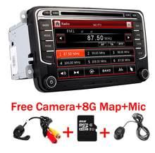 Car Multimedia player 2 Din Car DVD for Volkswagen Golf Polo Passat b6 b7 Tiguan octavia bluetooth steering wheel radio gps