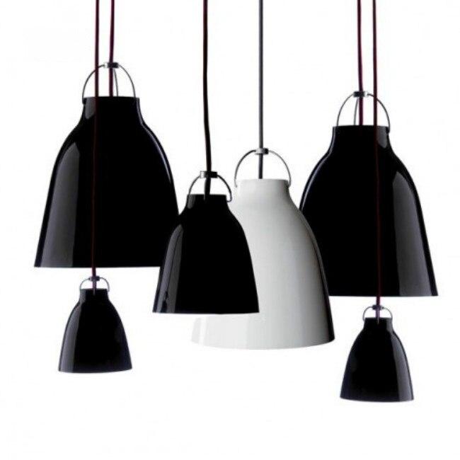 Işıklar ve Aydınlatma'ten Kolye ışıkları'de A1 Modern siyah/beyaz kolye ışıkları minimalist Caravaggio Caravaggio lamba trigeminal alüminyum restoran kolye lambaları FG905 title=