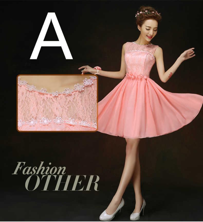 a44388e7da8ec formal ladies short a line coral chiffon size 8 girls formal elegant  dresses 2019 fashion sexy halter neck evening dress H4237