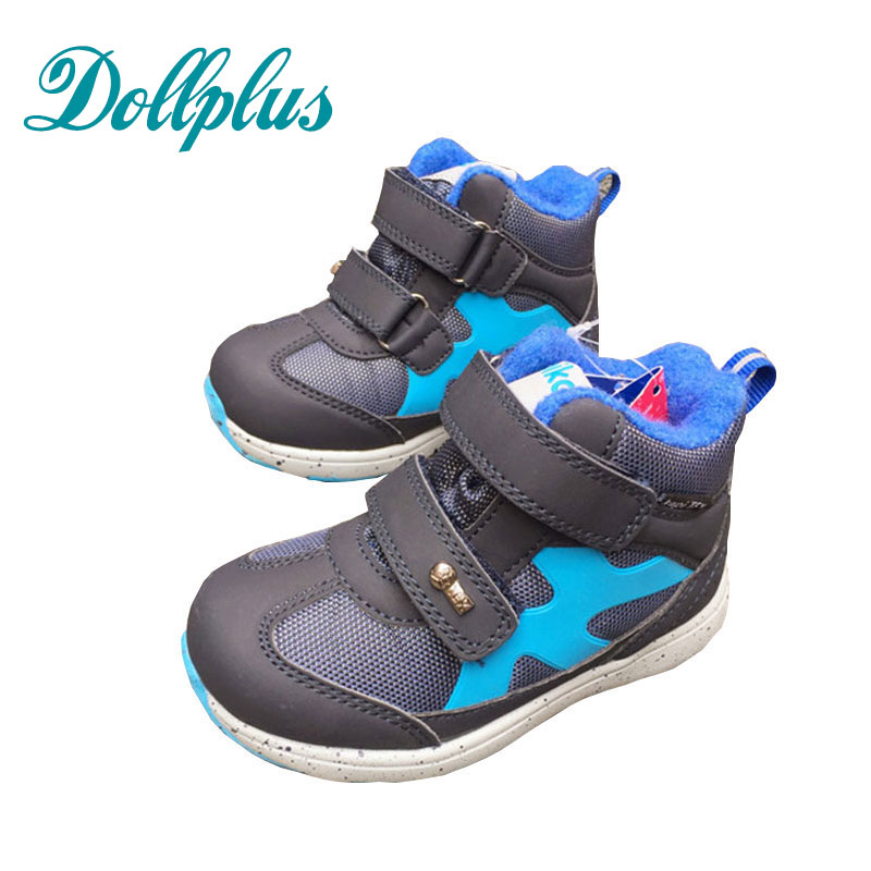 Dollplus  New Children'S Baby Winter Snow Boots Non-Slip Warm Shoes Boy Girl Fashion Outdoor Boots Shoes