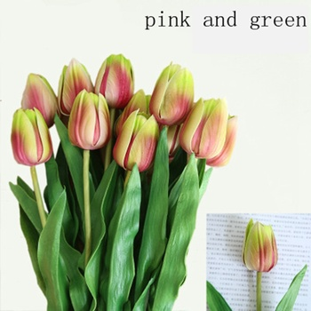 31Pc Artificial tulips Flower for spring home wedding decoration florwers Cheap PU Fake flowers Artificiales colorful tulip