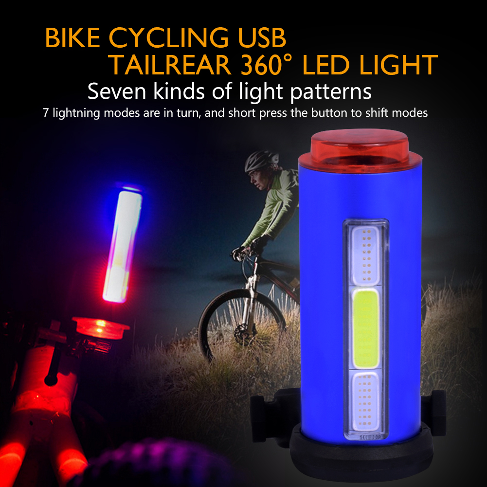 TSLEEN Cheap! Portable USB Rechargeable Bike Bicycle Tail Rear Safety Warning Light Taillight Lamp Super Bright IPX5 Waterproof
