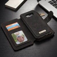 CASEME For Galaxy S8 G955 Mobile Bag 14 Slots Wallet Detachable 2 In 1 Split Leather