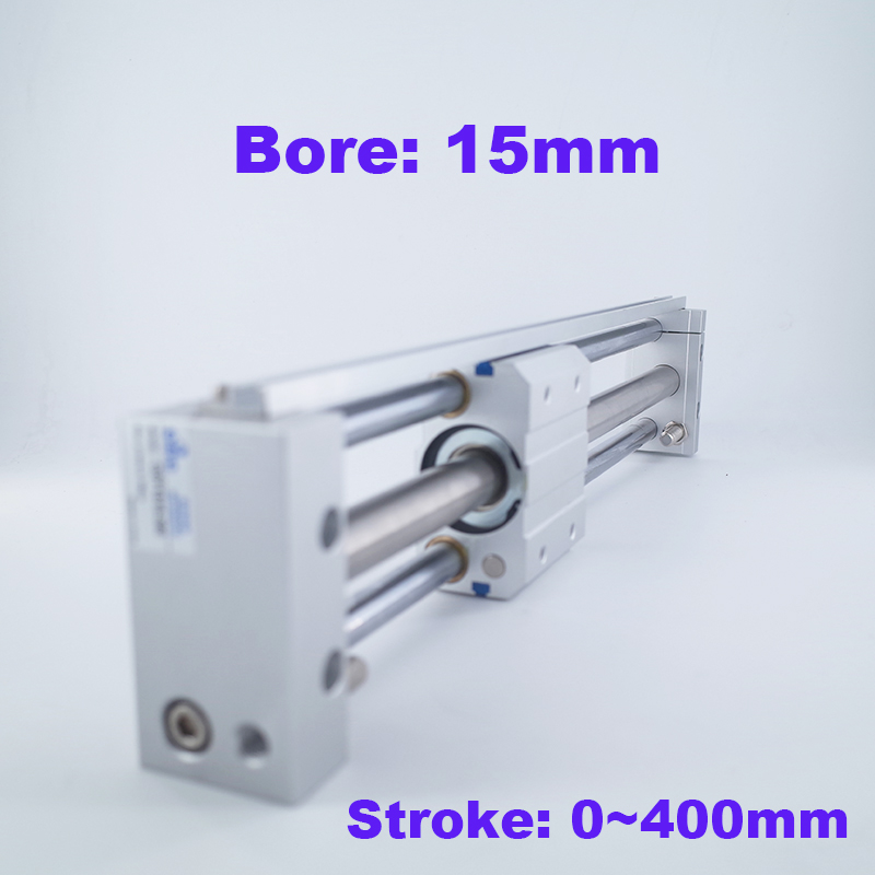 Magnetically Coupled Rodless Cylinder Slider Style 15mm bore 100 200 300 400 500mm stroke CY1S CDY1S