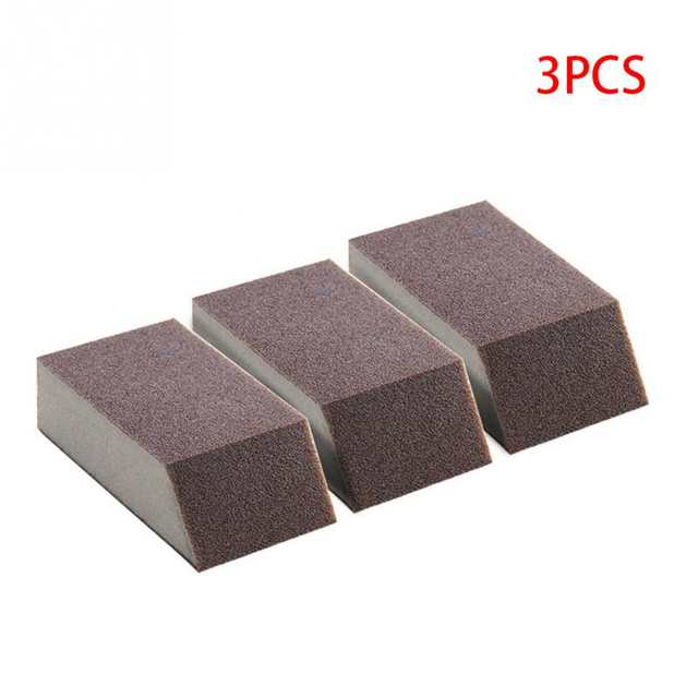 US $1 08 14% OFF|3pcs Magic Sponge Brush Aluminum Oxide Emery Sponge Rust  Dirt Stains Clean Brush Bowl Washing Pot Home Kitchen Cleaning Brush-in