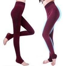 Women Leggings Winter Warm Velvet Thicken Pants High Waist Super Elastic Women's Body Shaper