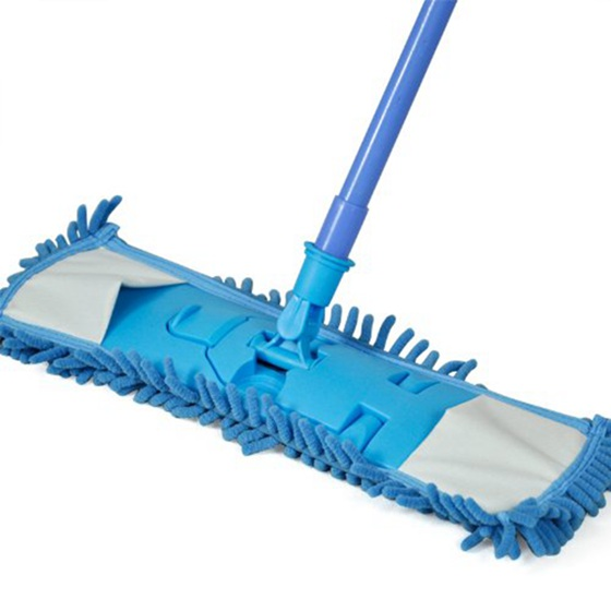 HOT GCZW-Smallwise Trading Extendable minifibre Mop Kitchen Noodle Mop Vinyl Wood Floor Cleaner (Blue)