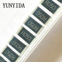 Resistencias de chip, 50 Uds., 2512 1W 1%, 50mR 0.05R R100 R050 R010 R015 R020 R025 R040 R200 R220 R330 R470 R150 R500 1R00