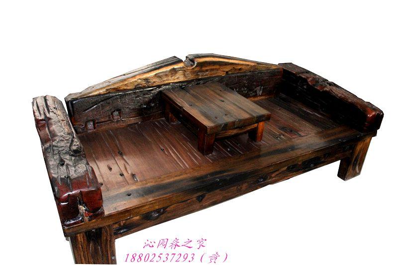 Old Ship Qinyuanchun old weathered wood furniture Ocean bed mahogany
