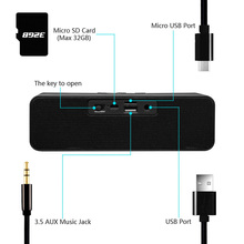 Smart Bluetooth speaker innovate strip shape portable design bass support TF card FM function mobile call Voice prompt sound box