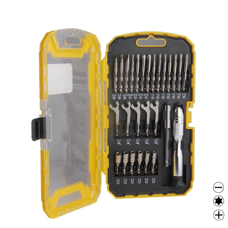 Set di cacciaviti di precisione 27pcs Set di chiavi a bussola con barra di prolunga Multitul UAV Kit di strumenti di riparazione fai-da-te