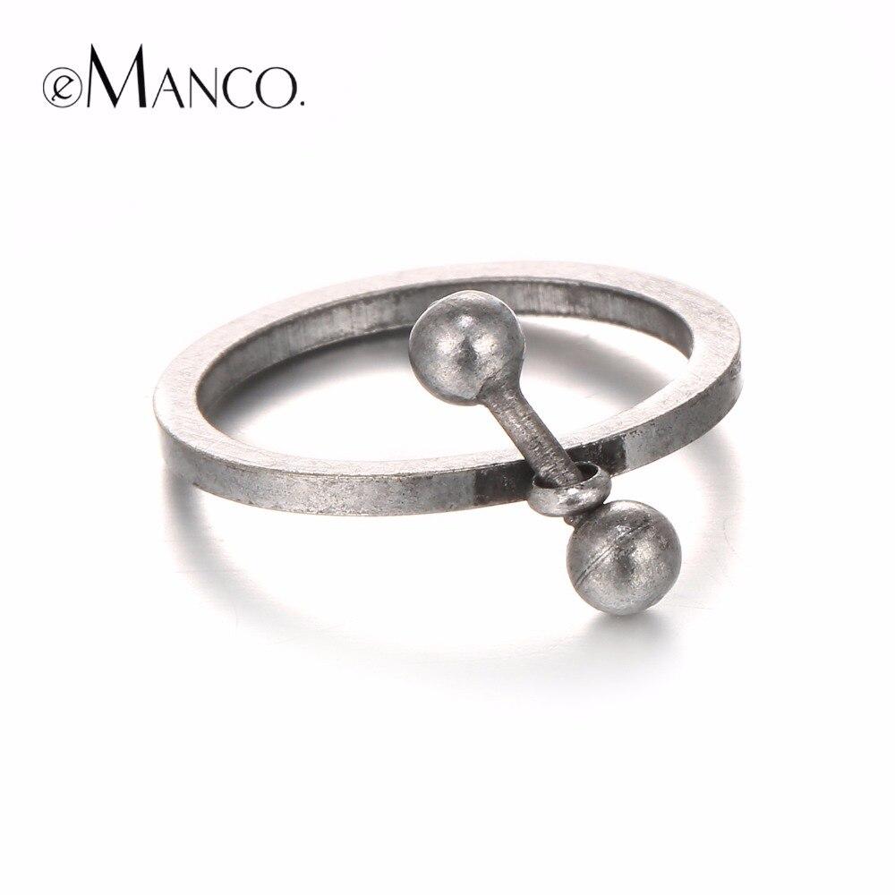 eManco Trendy Vintage Style Simple Rings for Women & Men Copper ...