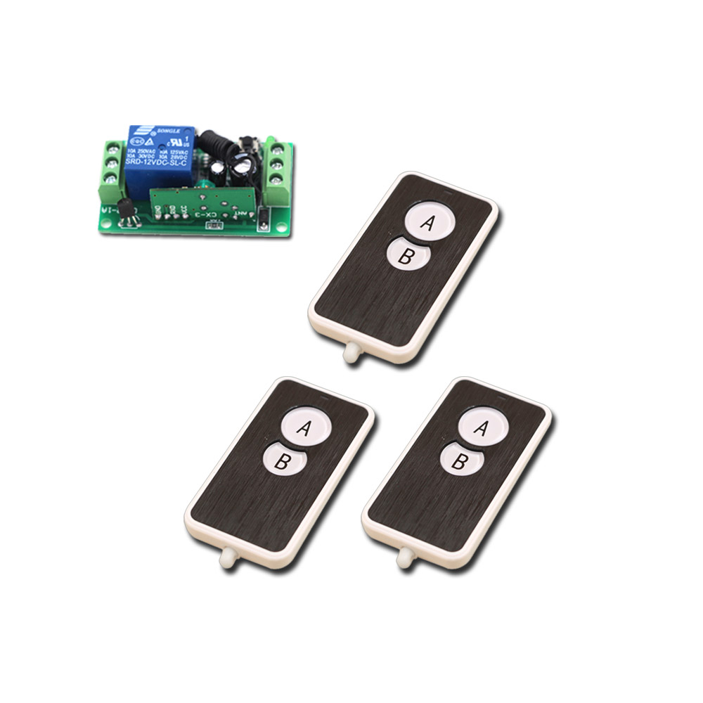 DC 9V 24V Wireless Remote Control Switch RF Wireless Remote Switch 12V 1CH 10A Relay Receiver 315Mhz/433Mhz купить