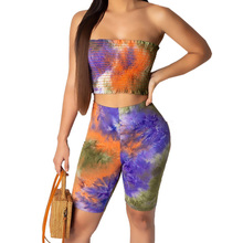 Elegant Women Casual Sleeveless Off Shoulder Two Pieces Sets Playsuits Summer Bohomian Beach Vintage Print Party Bodycon Romper