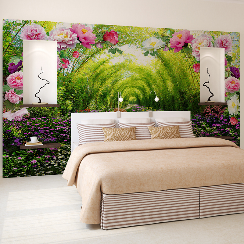 Custom Wall Murals Non Woven Printing Wall Paper Painting Bright Peony  Florals Living Room Bedroom Decor Wallpaper For Walls 3d  In Wallpapers  From Home ... Part 97