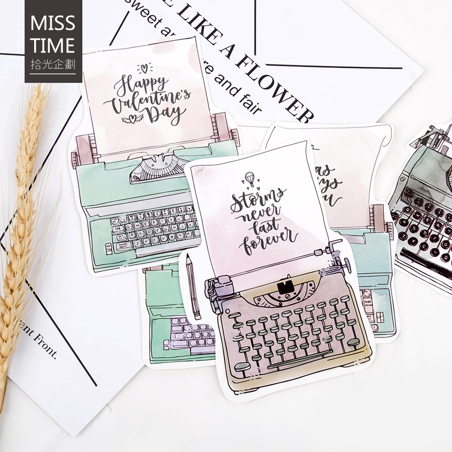 30 pcs/lot Vintage Novelty Heteromorphism typewriter Greeting Card Postcard Birthday Letter Envelope Gift Card Set Message Card 30 pcs lot novelty leaves shape postcard greeting card christmas card birthday card gift cards