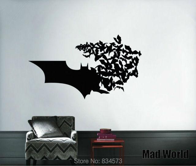 Mad World Batman Symbol Super Hero Wall Art Stickers Wall Decal Home