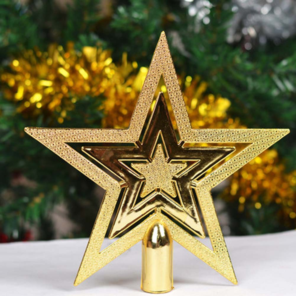 1 pcs 10cm20cm golden stars treetops of christmas tree toppers ornaments christmas star xmas decorations in tree toppers from home garden on