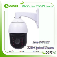 1080P 2MP Full HD X36 Optical Zoom IP PTZ Network Speed Dome Camera 200m Laser IR Night Vision Distance Low Illumination